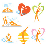Fototapety Health_spa_sauna_icons