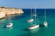 Boote in der Bucht von Cala Magraner, Mallorca