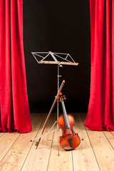 violin on stage theater