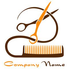 Haarschnitt - Firmenzeichen