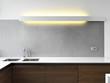 cucina moderna con primo piano del lavello di accaio