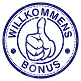 willkomensbonus bonus willkommen stempel button