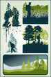 Trekking excursion vector label