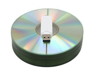 USB stick on CD