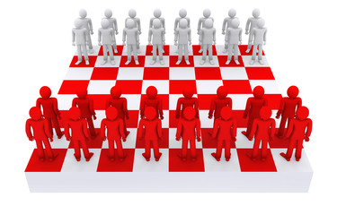 people like figures on a chessboard