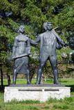 Monument to Komsomol of 30s in Komsomolsk-on-Amur poster