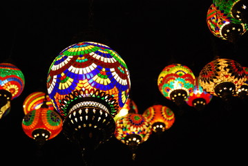 Colourful Lamps (Close-up)