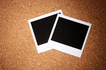 Photo paper on сork background
