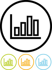 Statistics graphic - Vector icon isolated