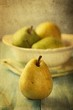 Pears. Old stylized image