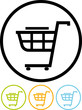 Shopping cart - Vector icon isolated
