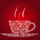 Fototapety Christmas coffee cup