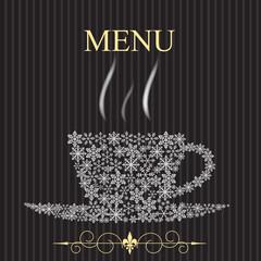 The concept of Restaurant menu on winter. Vector illustration