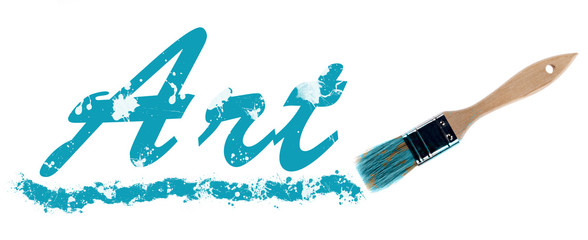 Art word painted and brush