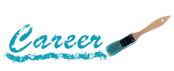 Career word painted and brush