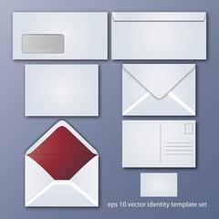 Set aus verschiedenen Briefpapier