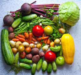 Group of different vegetables.