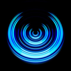 blue power icon abstract illustration