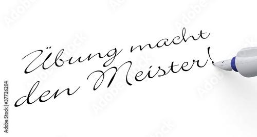 Stift Konzept - Übung macht den Meister!