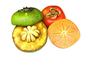 Two varieties of sapote