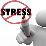 No Stress Man Draws Slash to Reduce Stressful Anxiety poster