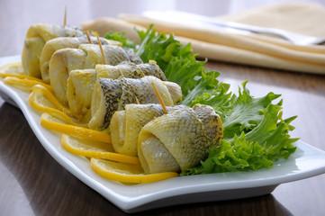 Rolls of fish