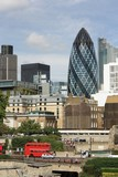 Tower of London and St.Mary Axe  (The Gherkin)