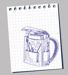 vector school bag