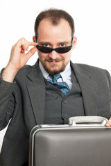 Successfoul businessman inn eyeglasses