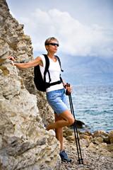 hiking at sea