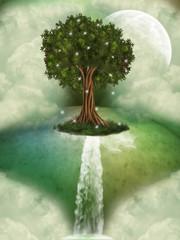 Tree in a fantasy landscape