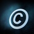 Pixeled Copyright sign illustration
