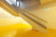 interior modern school, yellow floors