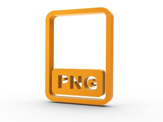 3d Icon Dokument PNG orange