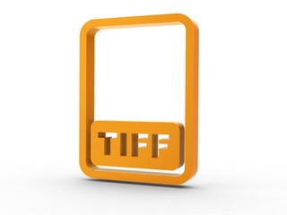 3d Icon Dokument TIFF orange