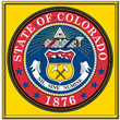 usa states city county colorado emblem coat seal