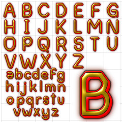 abc alphabet alpha romanie outline design