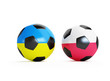soccer-ball flag Ukraine and Poland