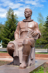 Monument to Yuri Gagarin in Komsomolsk-on-Amur, Russia