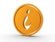 3d Icon Information orange