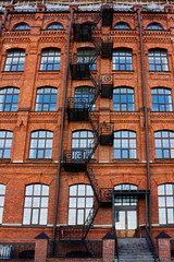 Old brick building with fire-escape