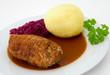 Roulade mit Kartoffelkloß und Rotkohl