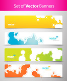 Fototapety Set of abstract colorful web headers.