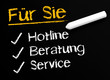 Hotline - Beratung - Service