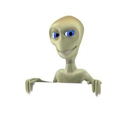 alien asomado