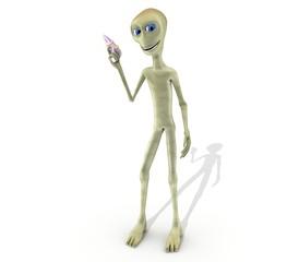 alien con laser