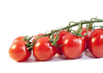 tomates fraîches sur fond blanc