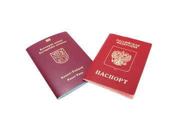 Finnish and Russian passport
