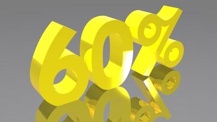 60% - Sessanta percento - Sixty percent