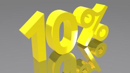 10% - Dieci percento - Ten percent